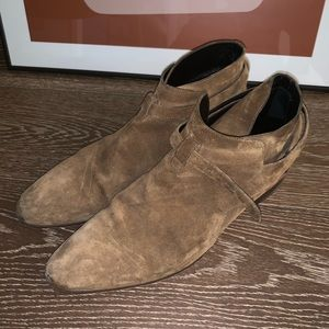 Saint Laurent Brown Suede Jodhpur Boots EU 45 | 12
